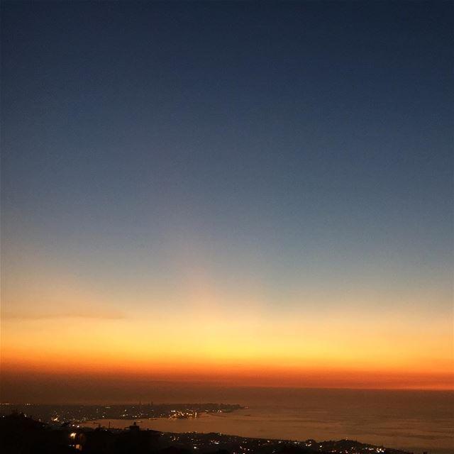 beautiful colorful sunset beirut horizon sundown sunsetporn ... (Mediterranean Sea)
