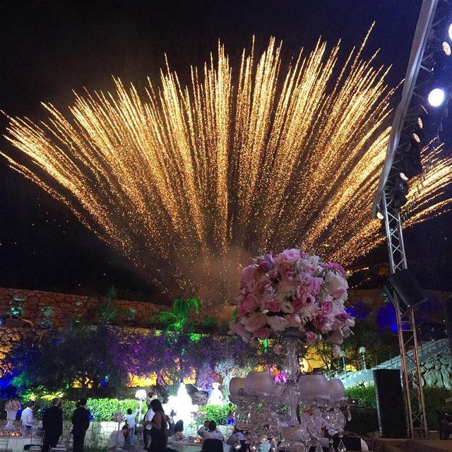 capture lebanon whatsuplebanon fireworks wedding colorful igers ... (Jeita Country Club)