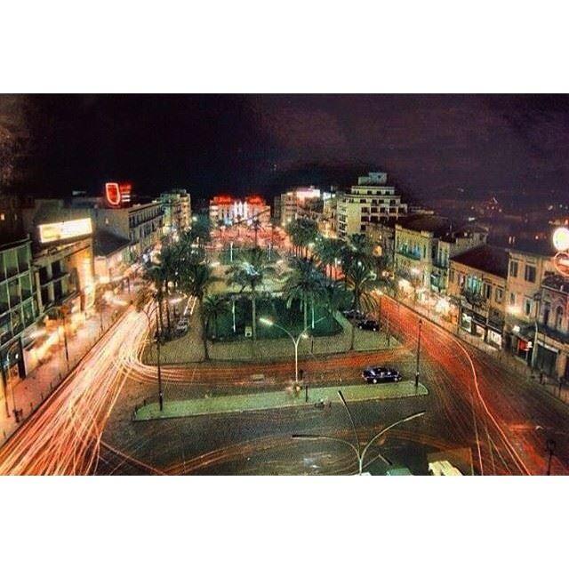 Martyrs Square At Night Beirut 1971