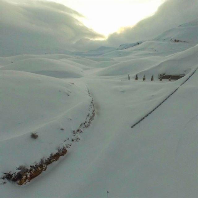 Where the sun goes down livelovelebanon snow winter lebanonwinter ...