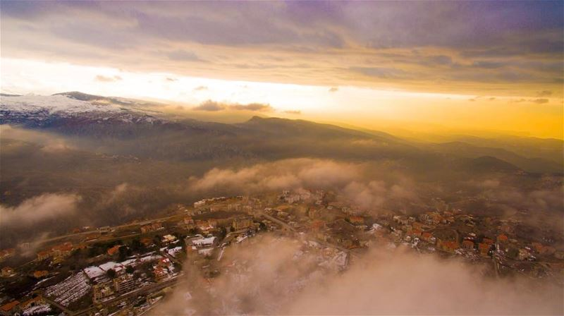 As the sun sets over Ehden & those magnificent colors highlights the... (Ehden, Lebanon)