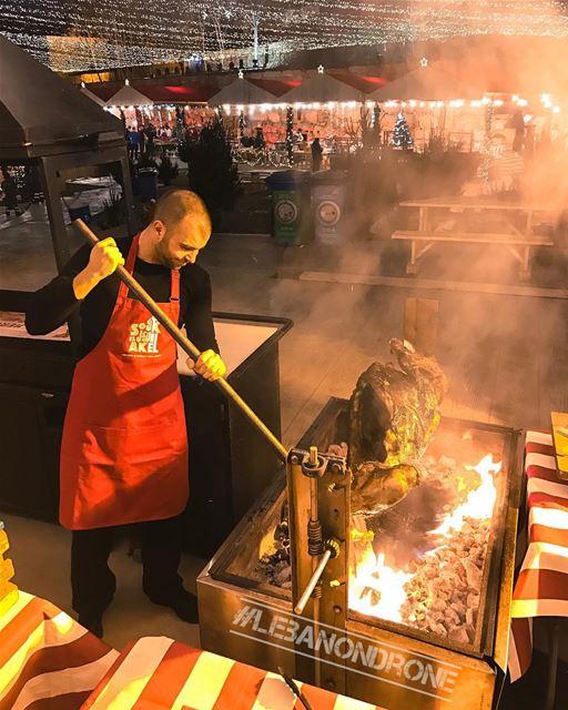 When @sharbel.akiki gets his coals fired up & ready for @soukelakel... (Souk el Akel)