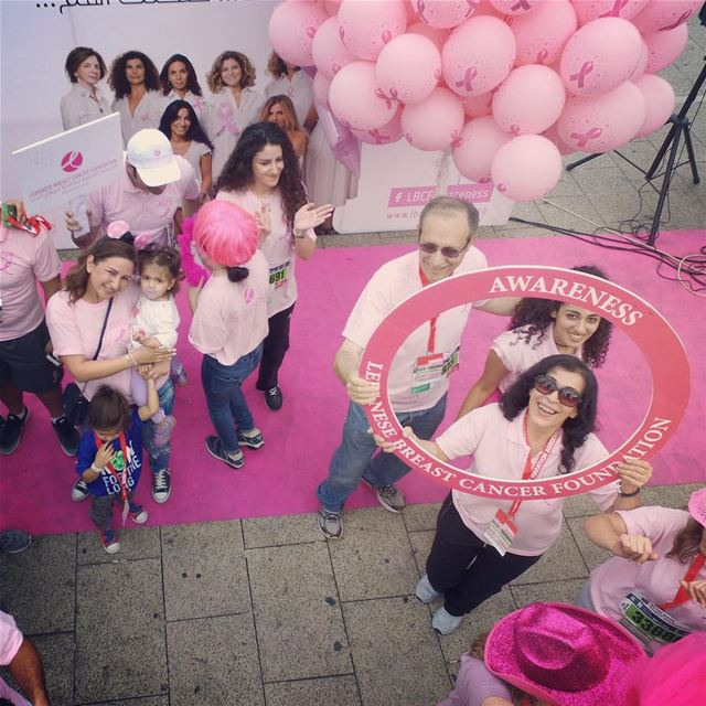 Positive Campaign for the Lebanese Breast Cancer Foundation at the Beirut... (Beirut Marathon)