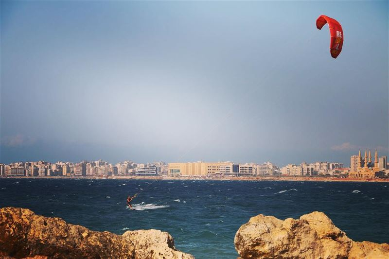 One of the toughest day ever in my short experience at Kite Surfing!... (Tripoli Lebanon Al Mina)