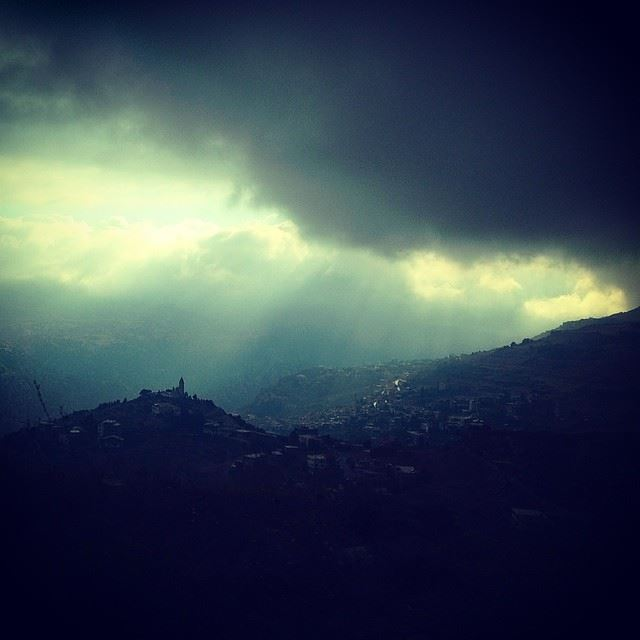 bcharre  village  roadtrip  lebanon  sky  skies  cloudy  weather  sunrays...