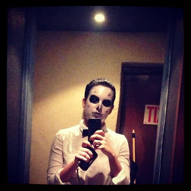 halloween creepy costume zombie skeleton cheers alcohol jameson...