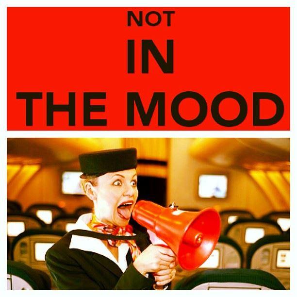 mood cabin crew work mode offline silent screams megaphone airplane...