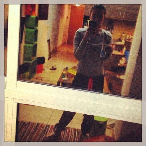 reflection look night pjs home redbull window glass selfie pink grey...