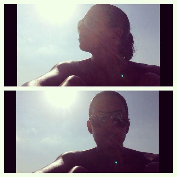 beach tan sun batroun lebanon pierre and friends sunny windy day blue sky...