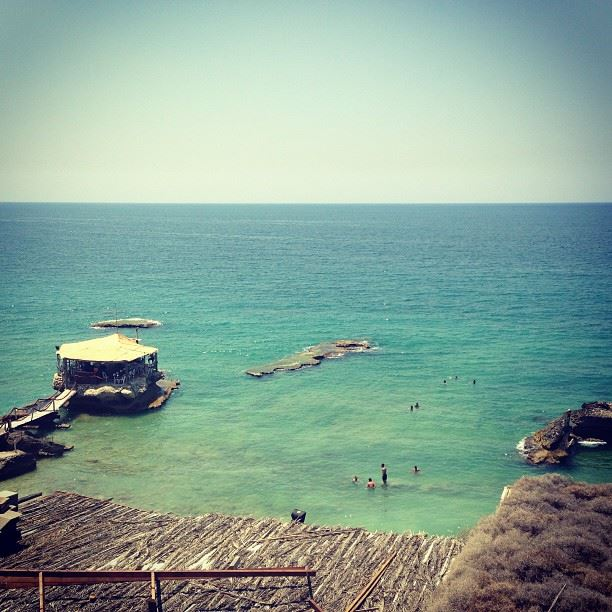 lebanon beach ocean sea blue beautiful amazing batroun view waves pure...