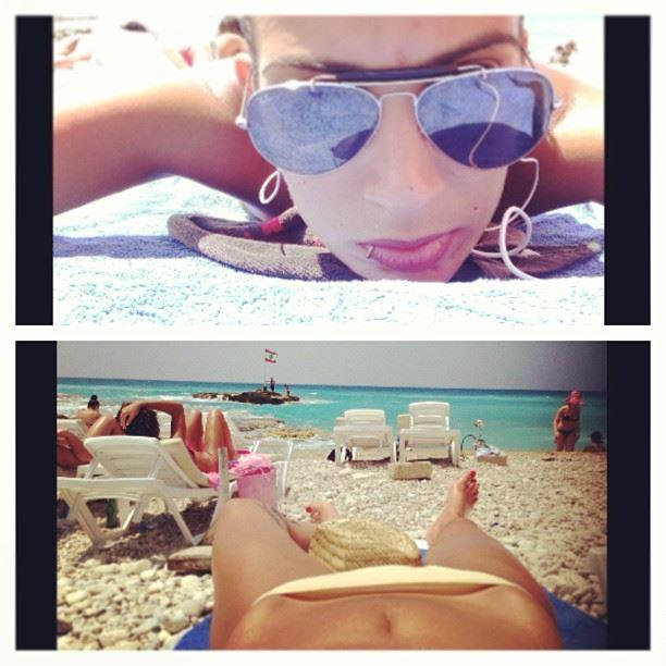 beach laying under the sun lalalala im gona soak up the sun tan tan and...