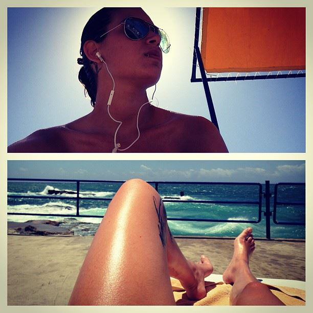 beach ocean summer lebanon waves slight windy refreshing relaxation...