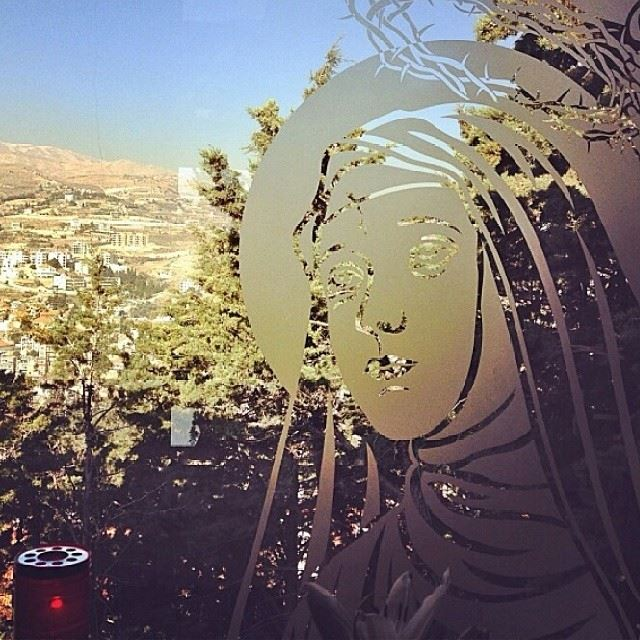 sainte Rita candle pray believe faith zahle lebanon view ...