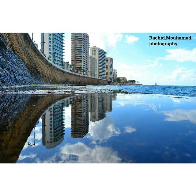 للجمال وجهان من بيروت 😊 beirut Lebanon reflection 🌟🌟🌟🌟🌟 Rachid 🌟� (Beirut Lebanon)