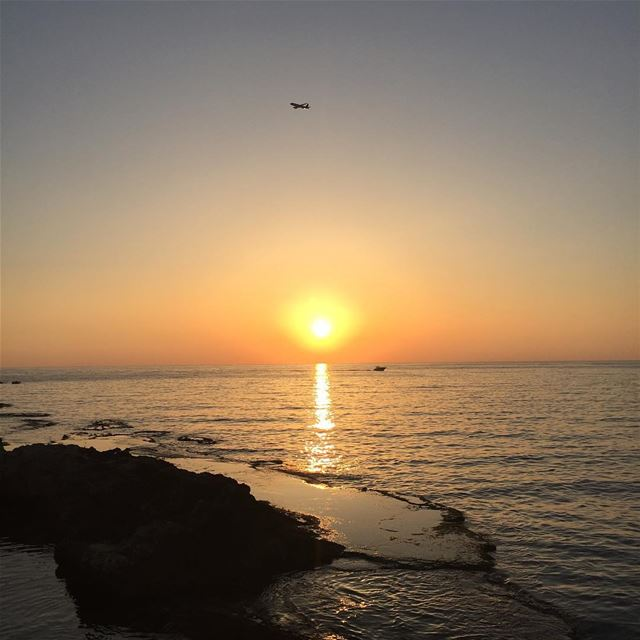 Sunset  Lebanon  Sea  Yellow  livelovelebanon  Nofilter  iphoneonly ...