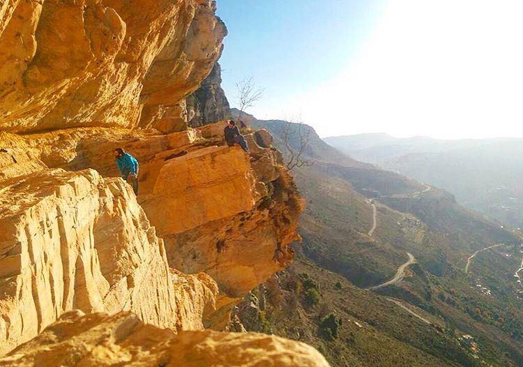 Just on the egde livelovelebanon lebaneseroadtrip cliff lebanon niha ...