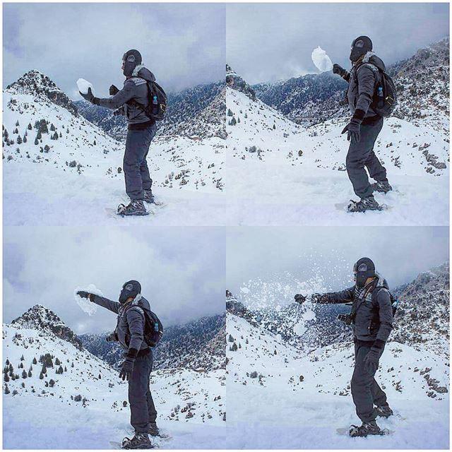 Dragon ball ❄🔥 tb hit thesnow snow winter me stopmotion ... (El Laqloûq, Mont-Liban, Lebanon)