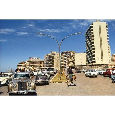 صباح الخير من بيروت الروشة عام ١٩٧٠،