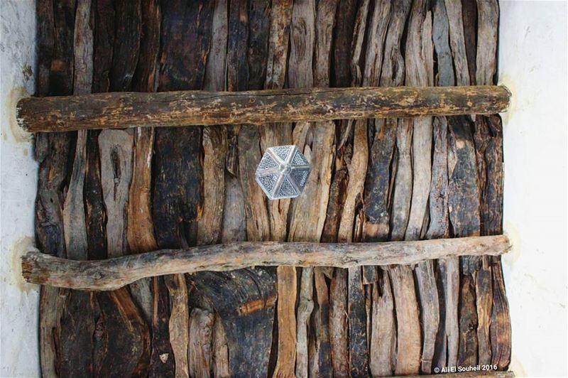 سقف احد غرف دير مار سمعان marsemaan wood wooden ceiling antique old ... (Deir Mar Semaan-Aito)