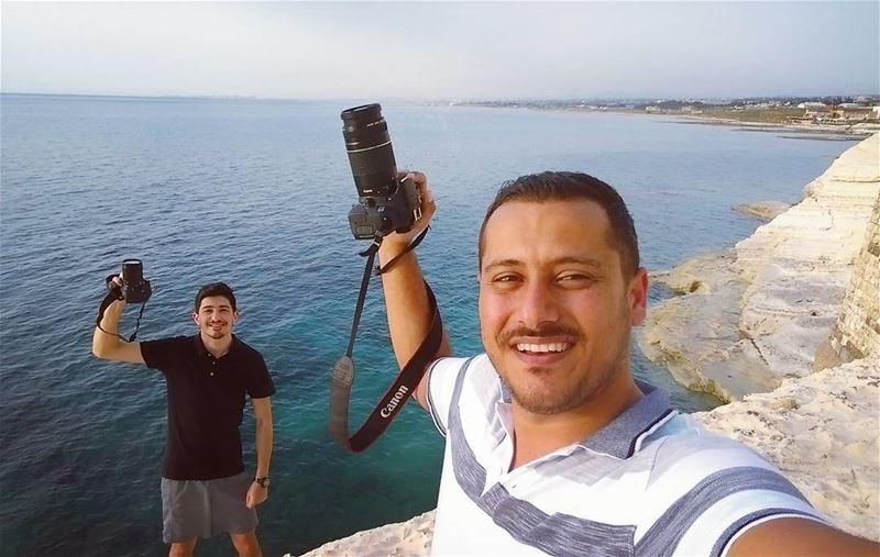 Amazing sunset friends fun beach southlebanon cameraman awesome ... (Ras El Bayada)