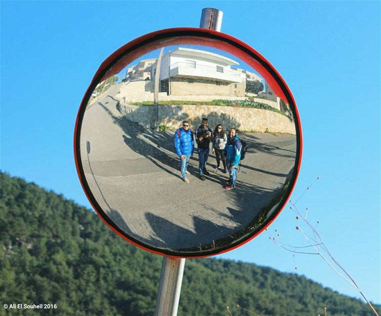 tb mirror reflection friends fun hiking nature ... (Mar Semaan)