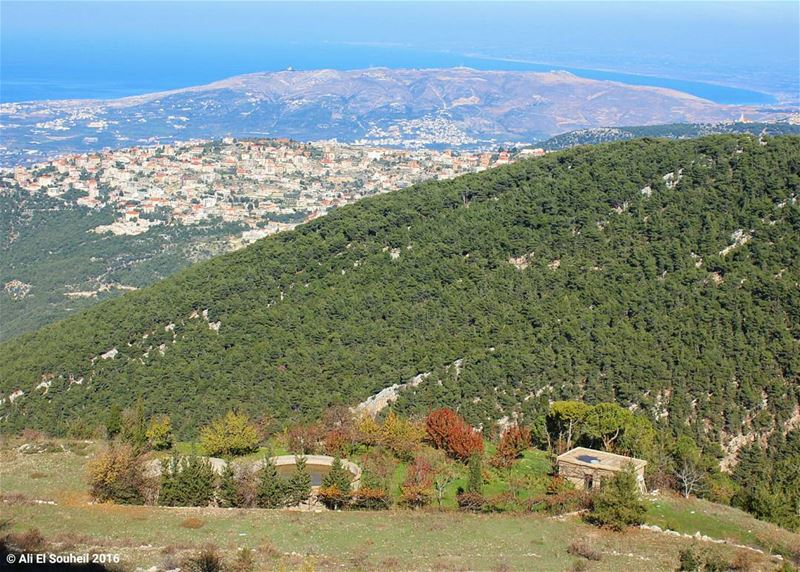 tb awesome view mountains sea forest village ... (North - Zgharta)