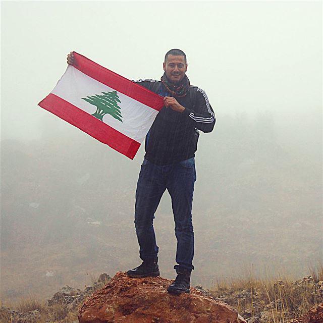 تحت الشتي لبنان ❤ me hiking lebanon lebaneseflag flag rain ... (Qurnat as Sawda')