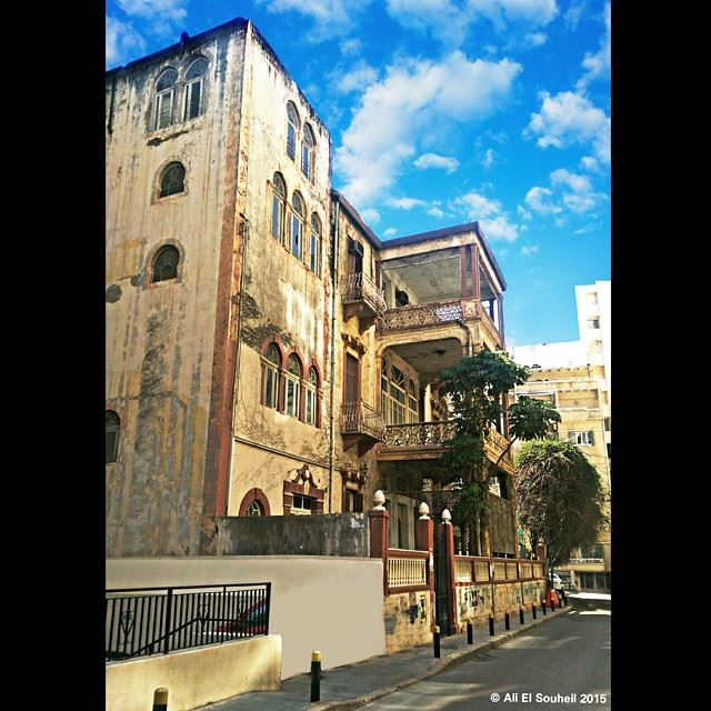 Hamra street hamra street beirut old building architecture amazing ... (Main Street)