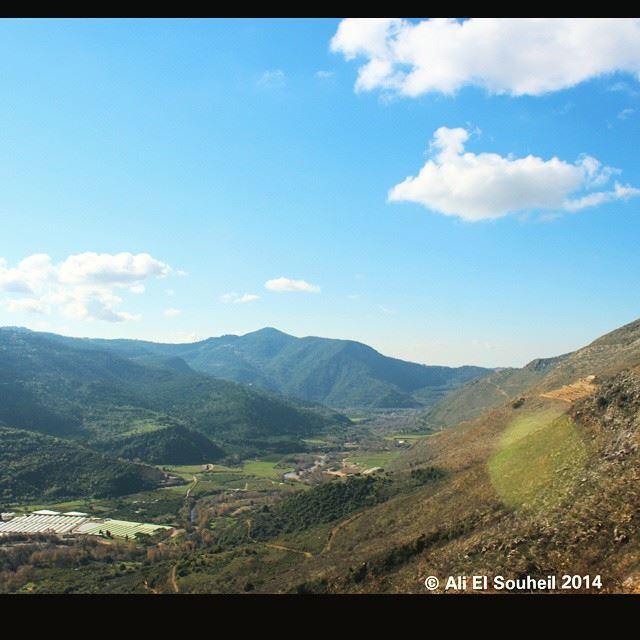 Good morning mountain valley green sky skyporn lebanon colorful ... (Besri, Chouf)