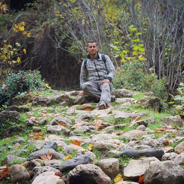 me hiking qannoubine holyvalley nature winter lebanon colorful ...