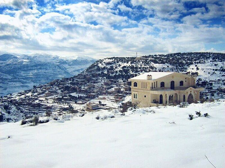 Kindness is like snow, it beautifies everything it covers! clouds sky ... (Mazra`At Ash Shuf, Mont-Liban, Lebanon)