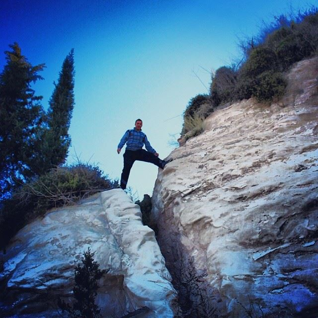 me mountain climb onthetop white rock trees nature southlebanon ...