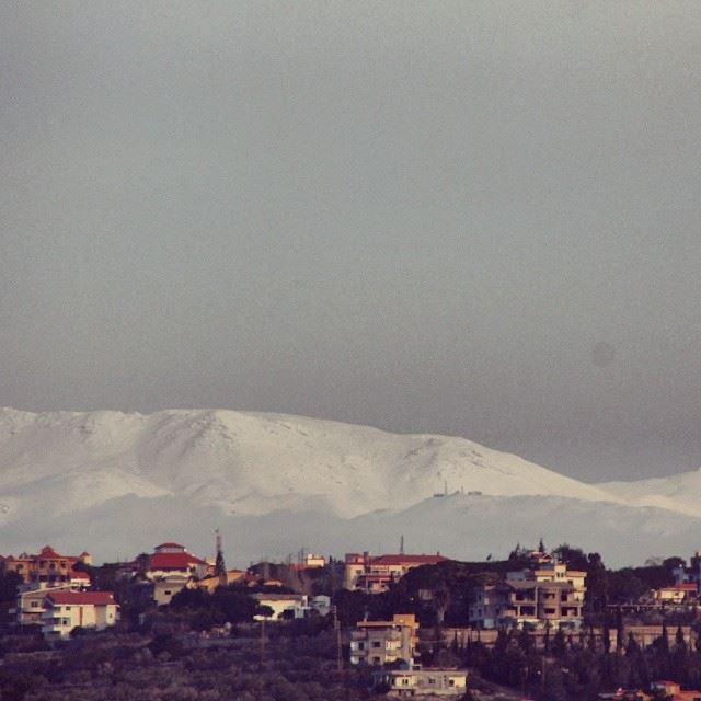 snow mountains white lebanon southlebanon winter cold village ...