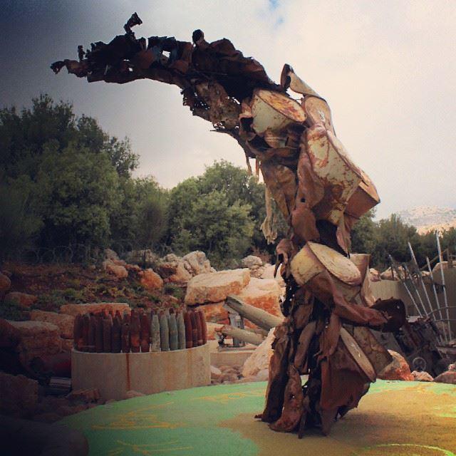 dragon monster iron abstract art statue southlebanon huge lebanon...