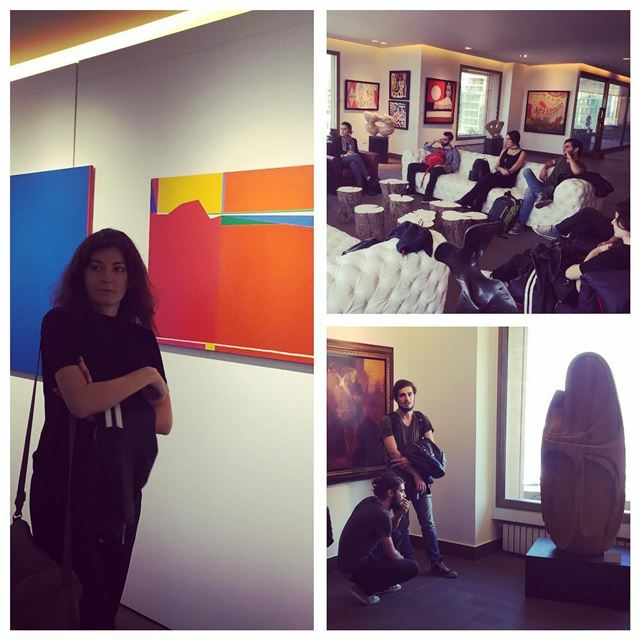 My students visit Abraham Karbajakian's unique modern art collection from...