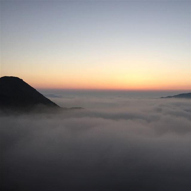 Above the clouds faraya lebanon ...