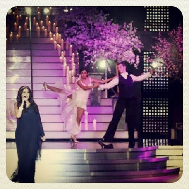dwtsme on stage with elissa ! singer mea lebanon arabic foxtrot ...