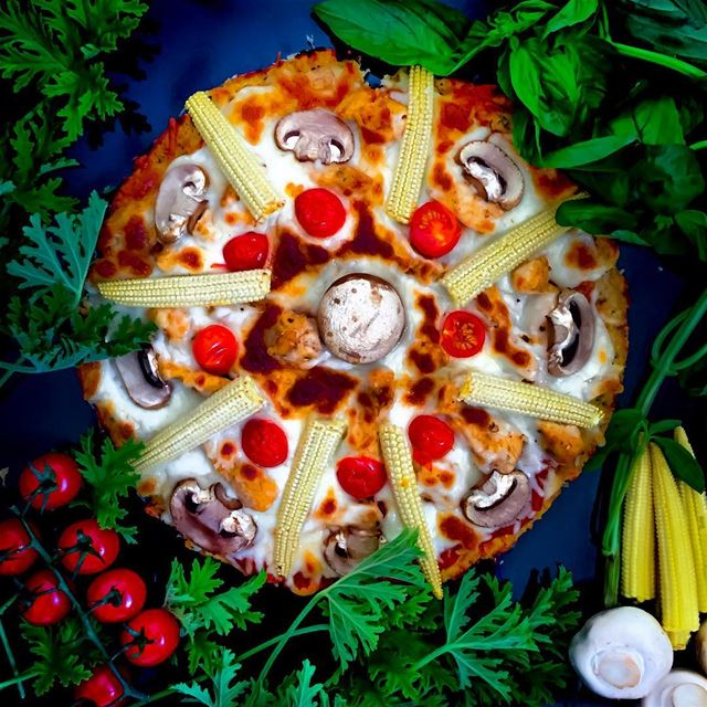 This precious circle is made up of gluten free dough - cauliflower - and...
