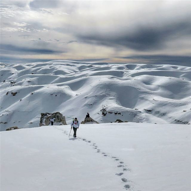 Hiking the Creamy Hills 👣❄🚶🗻. hike snow hills mountains ...
