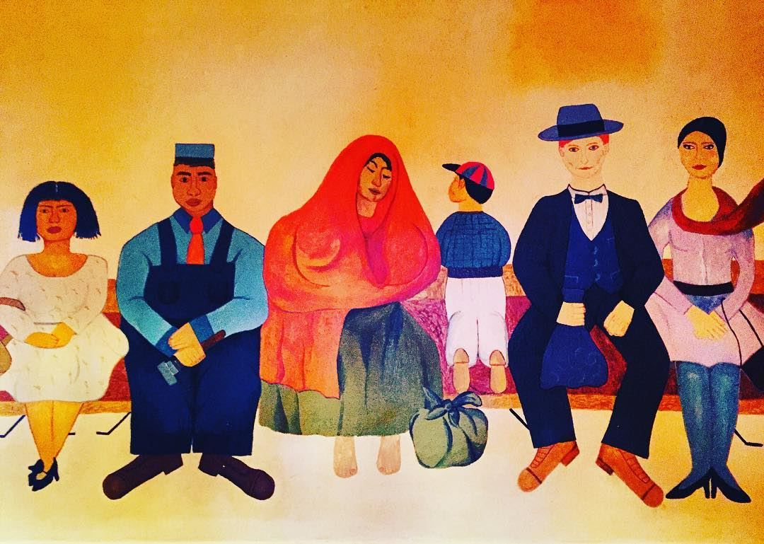 Wondering what is the lady in orange and green doing under her veil 🤔😝😅... (Frida Cuisine)