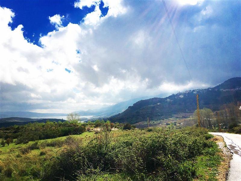 If you can dream it , you can do it ! march rain clouds lake landscape... (Lago di Qara'un)