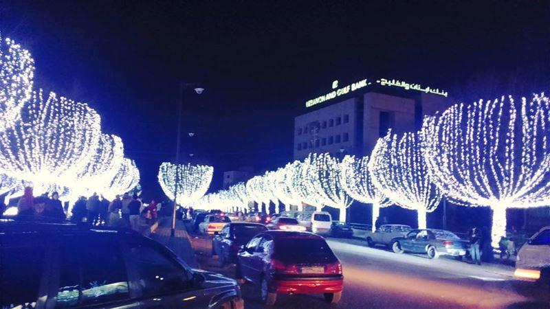 christmas2015 🎄🎁 decoration spirit preparation street light lebanon... (Zahle, Lebaon)