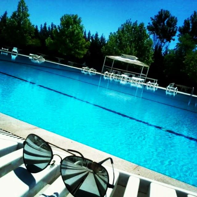 beach water blue sun trees summer july sunbathing sunglasses rayban fun...