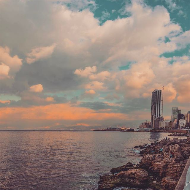 lebanon sunset panoramic ... (Manara Beirut)