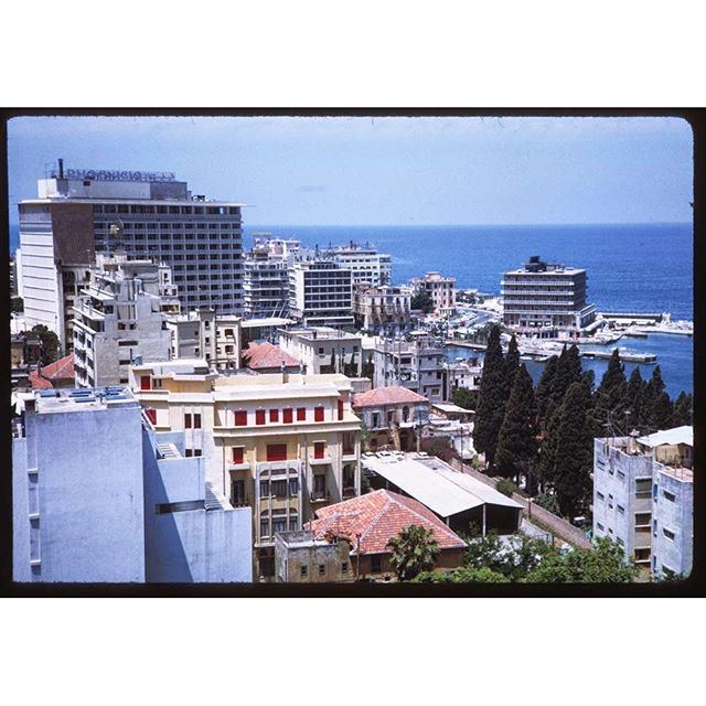 Beirut Hotels along Sea Front, Photo from top Starco Bldg .