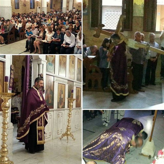 اليوم علق على خشبة...من كنيسة القديس جاورجيوس في انفه الكورة....