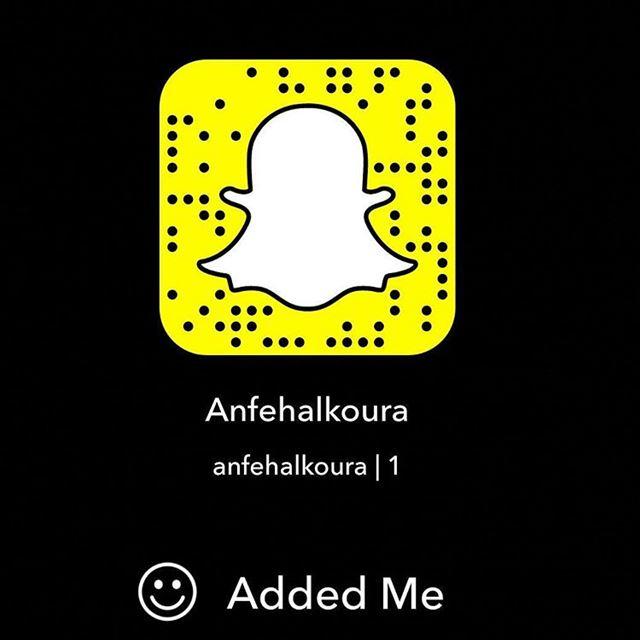 You can follow us now on snapchat : Anfehalkoura...
