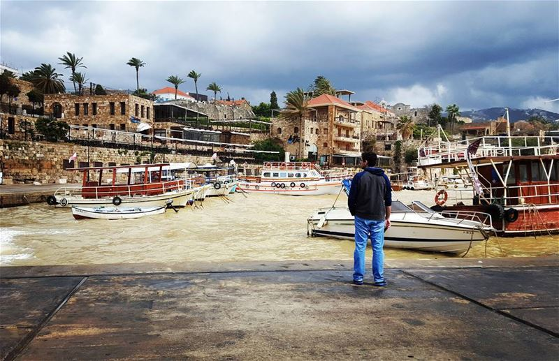 It's getting stormy in ByblosThe oldest living city in the... (Byblos, Lebanon)