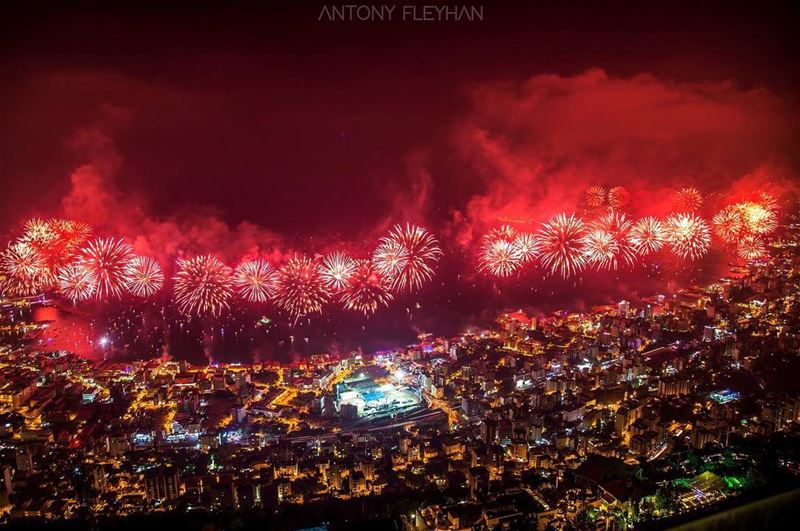 Jounieh International Festival 2016  fireworks  city ...