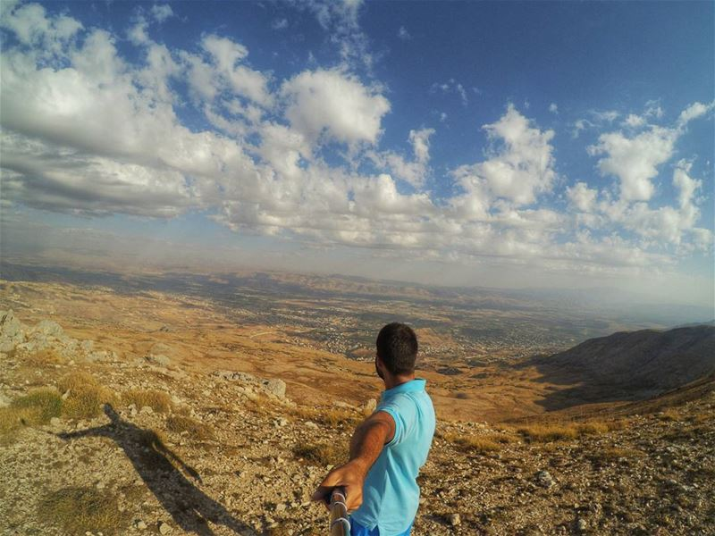 The climb is tough, but the view from the top is worth it 😍😍 (Jabal Al Kneyseh)